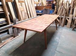 Parquet hardwood table