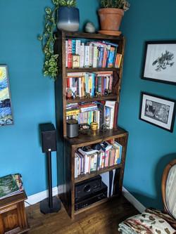 Bookcase in situ