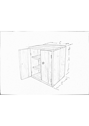 bespoke, handmade cabinets made from reclaimed timbers