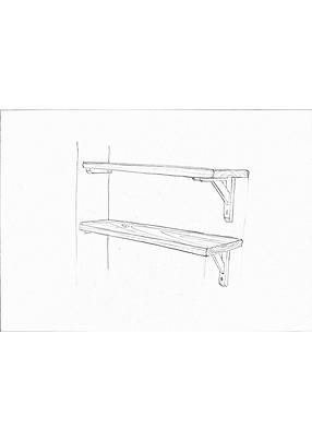 bespoke scaffolding shelves made from reclaimed timber
