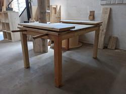 handmade extendable table