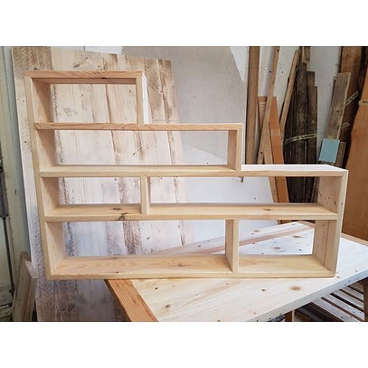bespoke made bookcase made from reclaimed timbers