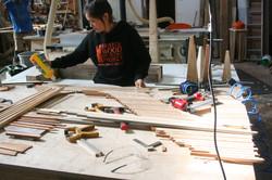 Making hardwood strips