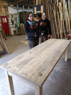 Large table made from scaff