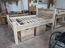 Bed with under storage