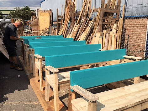 Back-rest benches