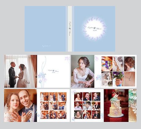 """Шаблон для фотокниги """"Wedding flowers"""""""