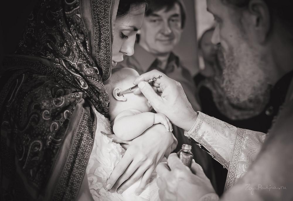 Красивый платок на голову в церковь на Крещение малыша