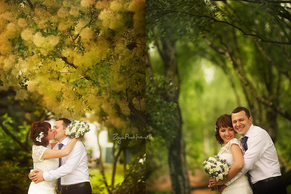 Свадьба в Ботаническом саду. Фотосъемка. Свадебная фотосъемка.