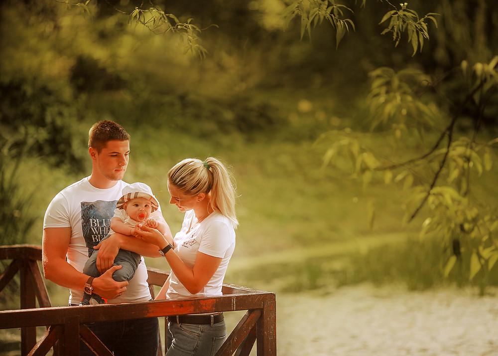 Семейная фотосессия на берегу пруда. Аптекарский огород.