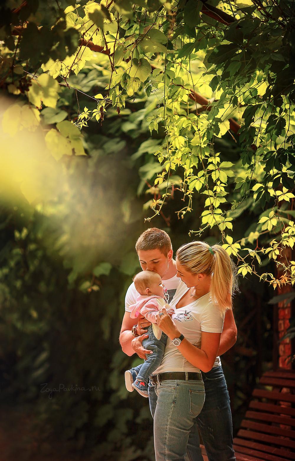 Семья в Аптекарском огороде. Семейеная фотосессия.