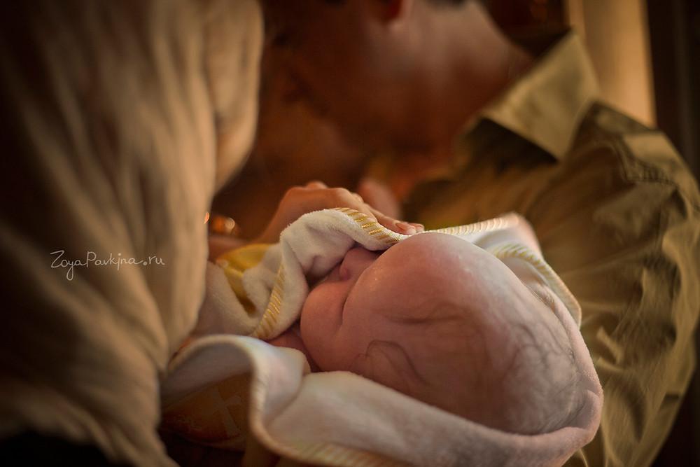 Помазание елием, фотограф на крещение