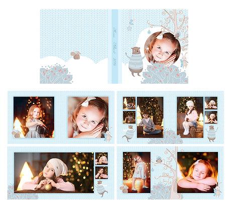 Шаблон для Новогодней фотокниги