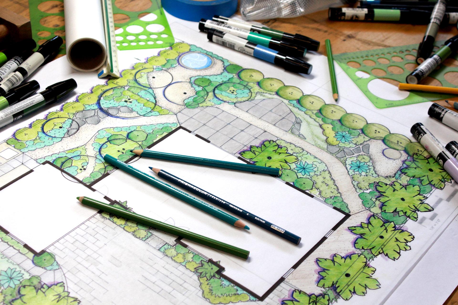 Marker Landscape Design Plan