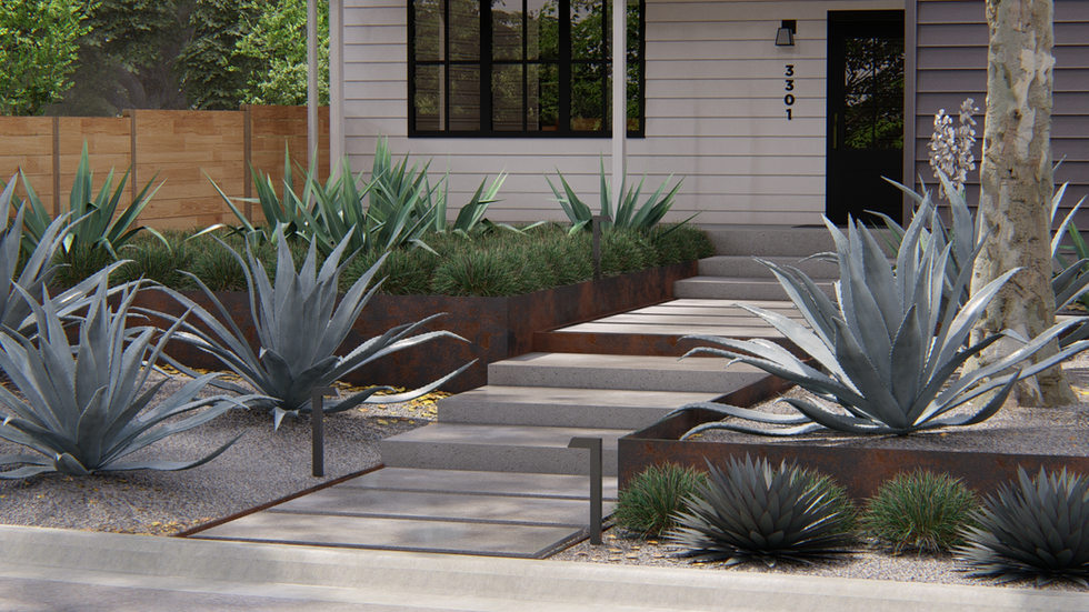 Front Yard Step Design