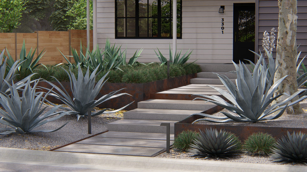 Front Yard Step Design