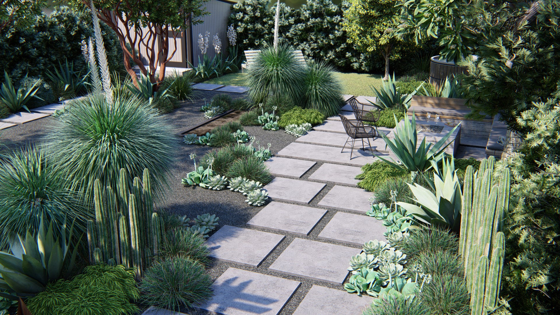 Drought Tolerant Backyard Landscape Design