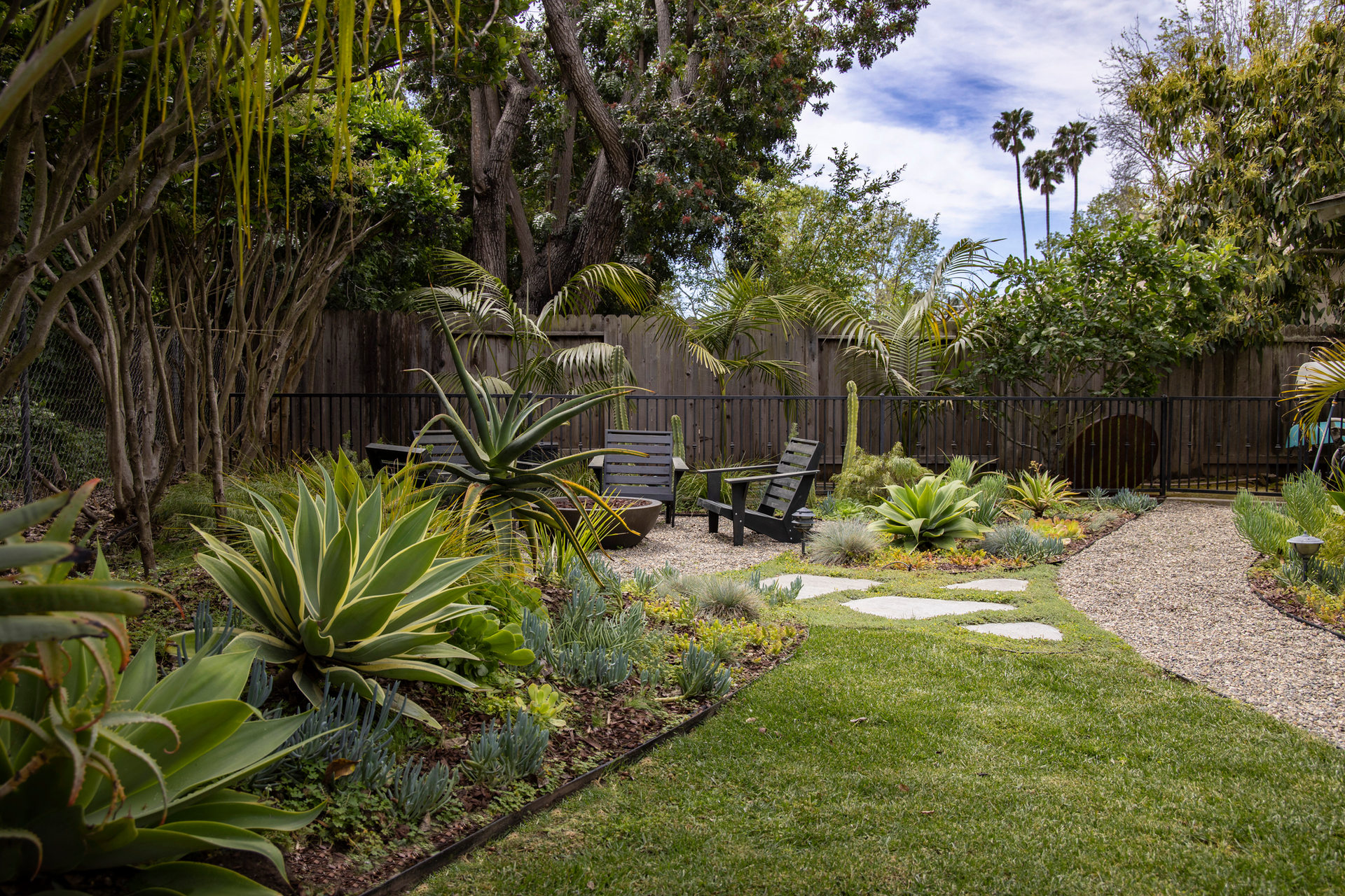 Backyard Landscape Design Succulents