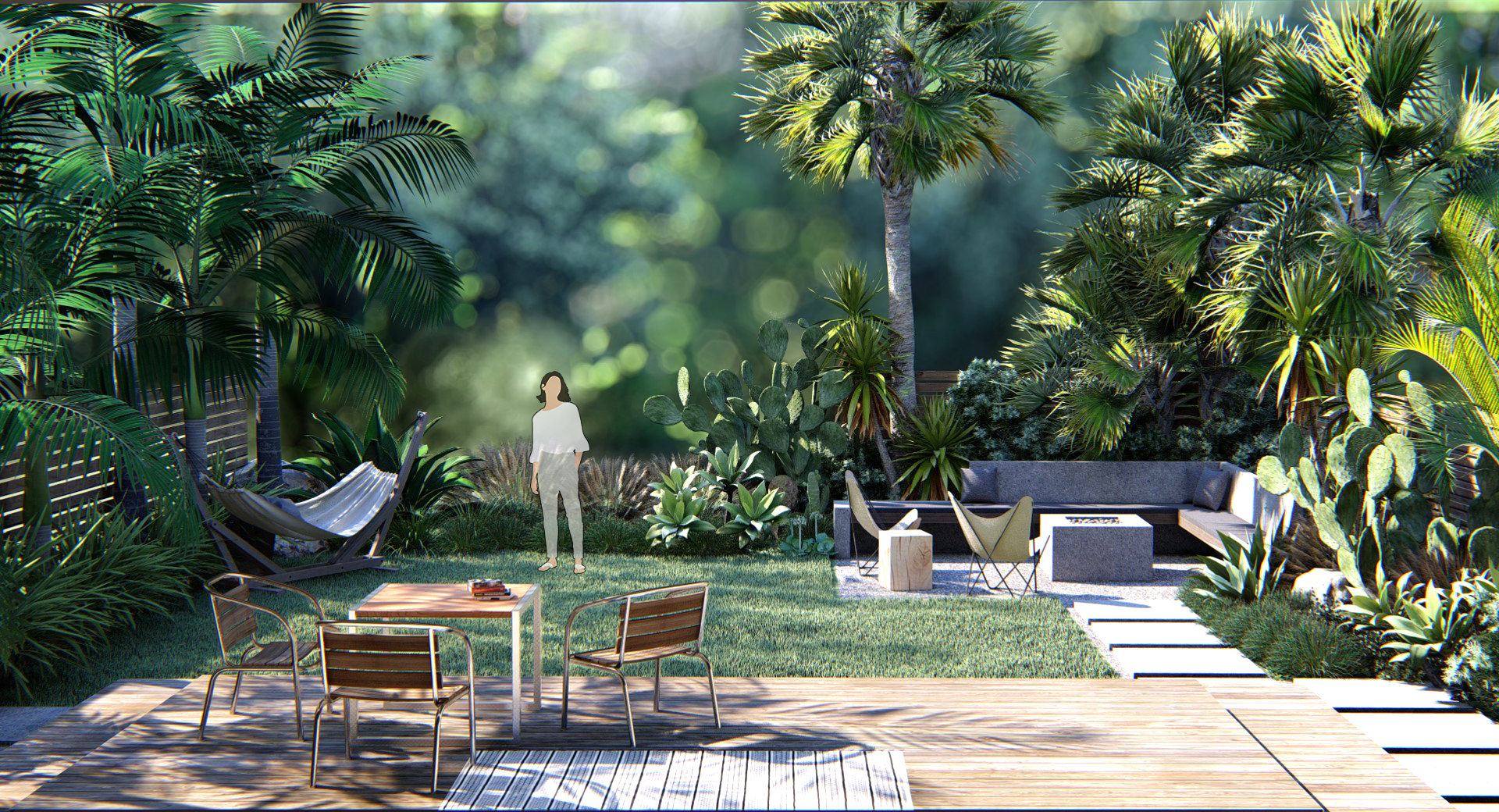 Bakyard Lush Garden Design