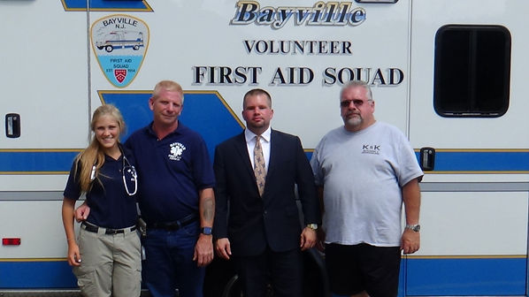 Glen Kelly & Glen Kelly Real Estate make donation to the Bayville First Aid Squad / Berkeley - Bayville EMS