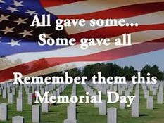 Have a Safe and Wonderful Memorial Day!