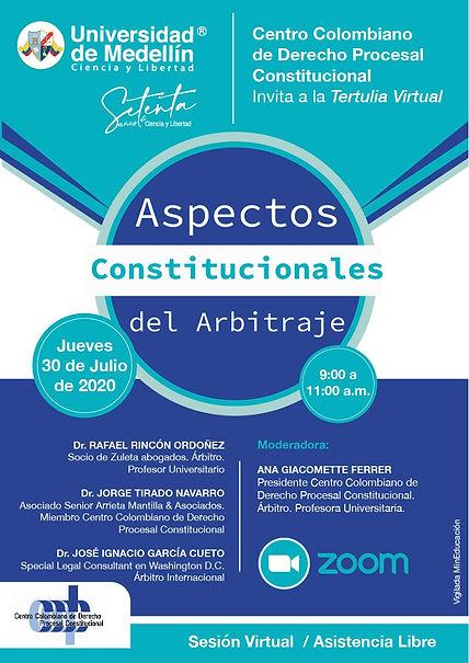 TERTULIA ASPECTOS CONSTITUCIONALES DEL A