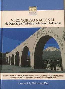 VI Congreso del Derecho del trabajo