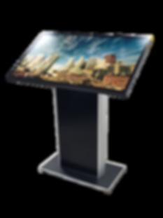 Totem multimediale a leggio tavolo touch