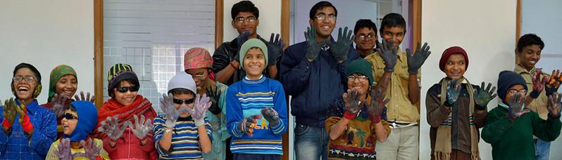 Prakash Children After Doing Art