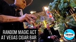 Vegas Random Magician Act At Cigar Bar.p