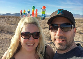 Seven Magic Mountains Vegas Art Travel C