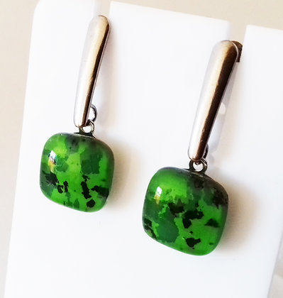 Boucles d'oreilles METEORE/vert