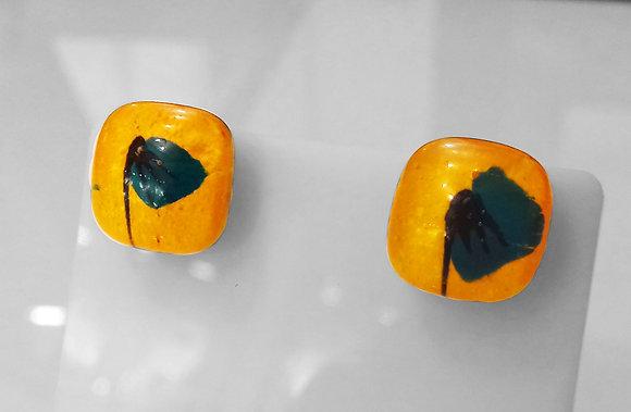 Boucles d'oreilles PAVOT bleu