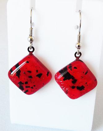 Boucles d'oreilles METEORE/rouge