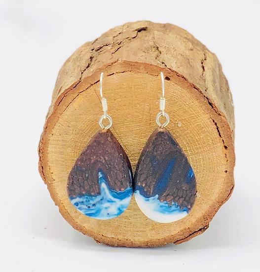 Blue Sky Banksia Earrings