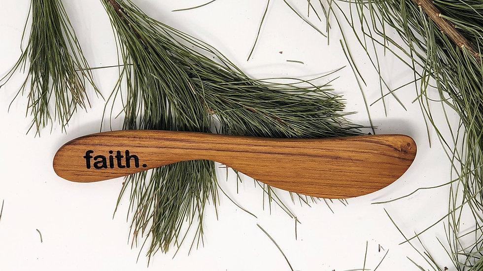 soft cheese or spread teak wood knife-lg-FAITH