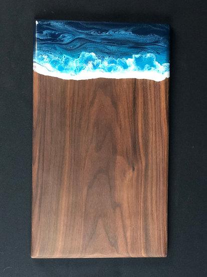 "Tropical Blue Walnut Ocean Board 18"""