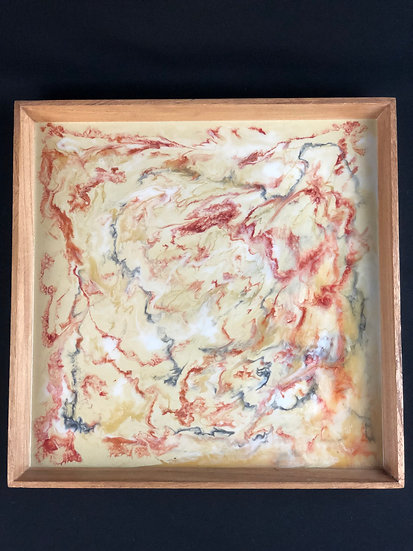 """Fall Marble Square Tray 16.5"""""""