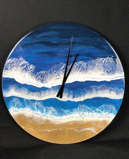 "Large Blue Ocean Clock ""24"""