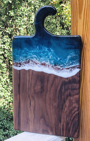 Walnut Wave Hook Board