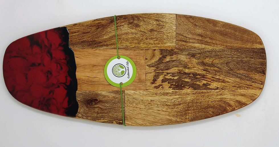 Red&Black Wood and Resin Cheeseboard