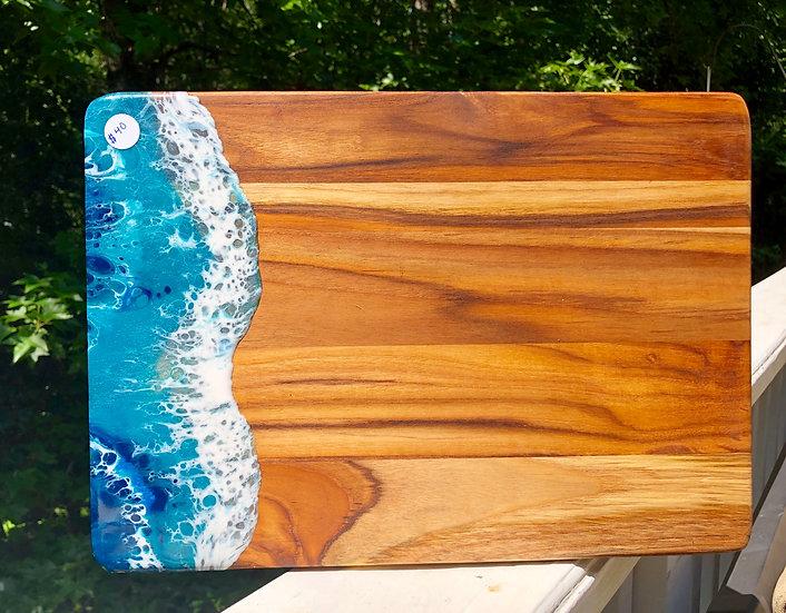 Sheesham Wood and Resin Cheeseboard 2