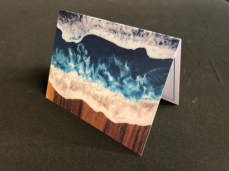 Set of 5 Ocean Board Notecard