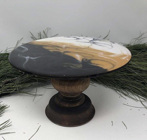 gold marble pedestal