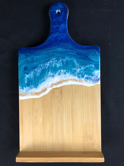 Tall Sea Turquoise Bamboo and Ocean Easel