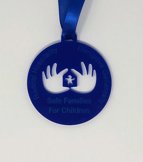 SFFC Blue Acrylic Ornament