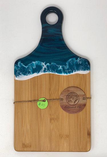 Small Bamboo and Ocean Resin Cheeseboard 32