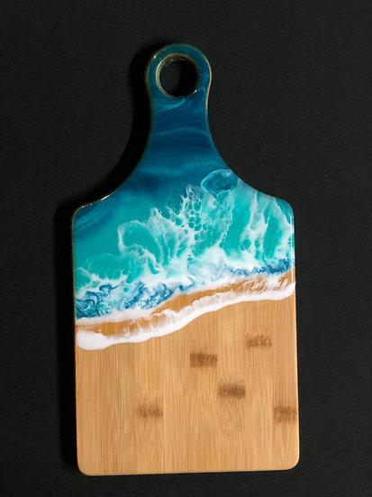 Small Bamboo and Ocean Resin Cheeseboard