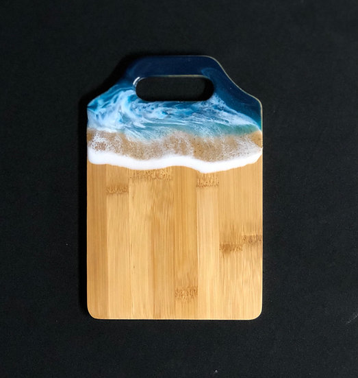 Mini bamboo and ocean resin cheeseboard