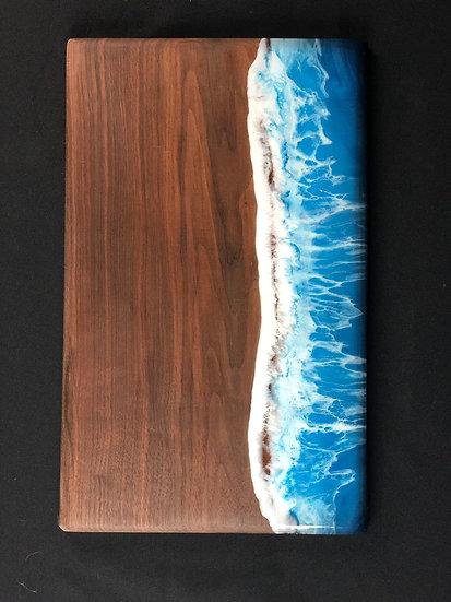 """Cerulean Blue Walnut Ocean Board 17"""""""